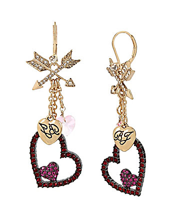 HEARTS AND ARROWS SHAKY DROP EARRINGS