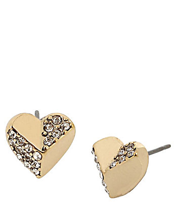 HEARTS AND ARROWS STUD EARRINGS