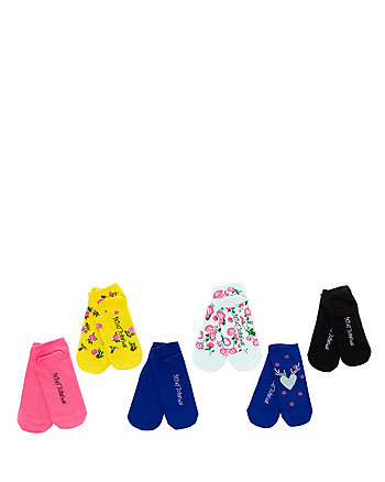 HEARTS AND ROSES LOW CUT SOCK SIX PACK