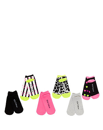 HEARTS GALORE LOW CUT SOCK SIX PACK
