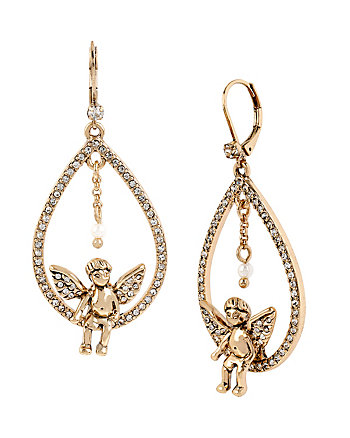 HEAVEN SENT ANGEL ORBITAL EARRINGS