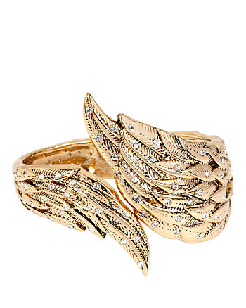 HEAVEN SENT CRYSTAL WING HINGE BANGLE