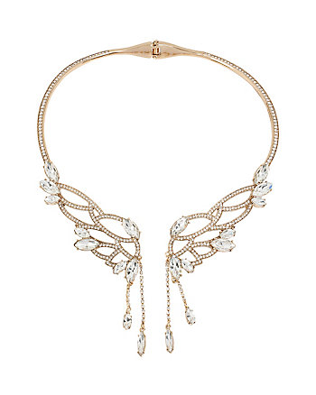 HEAVEN SENT CRYSTAL WINGS COLLAR