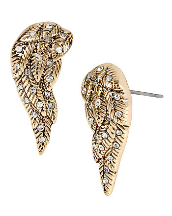 HEAVEN SENT CRYSTAL WINGS STUD EARRINGS