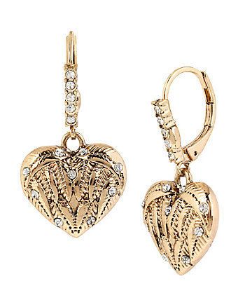 HEAVEN SENT HEART DROP EARRINGS