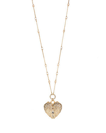 HEAVEN SENT HEART WING LONG PENDANT