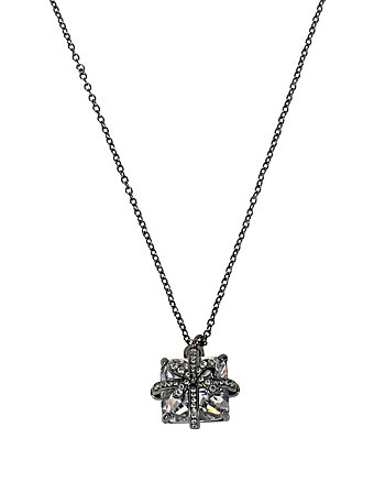 HOLIDAY CZ BOW PACKAGE PENDANT