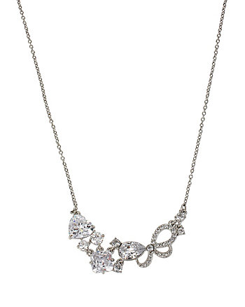 HOLIDAY CZ RHINESTONE FRONTAL NECKLACE
