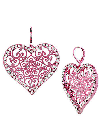HOLIDAY PARTY FILIGREE HEART EARRINGS