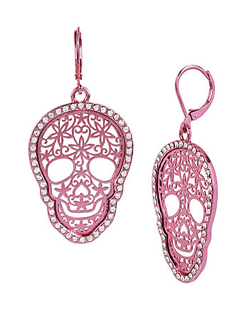 HOLIDAY PARTY FILIGREE SKULL EARRINGS