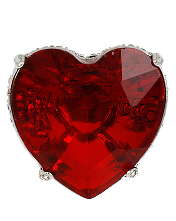 HOLIDAY PARTY RED HEART RING