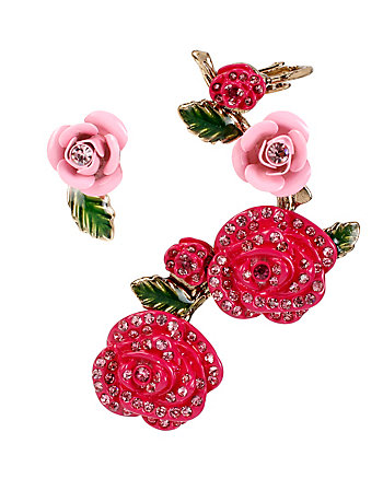HOLIDAY PARTY ROSE EAR CUFF