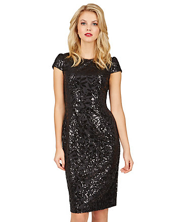 HOLIDAY SHIMMER MIDI DRESS