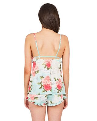 HONEYMOON SUITE SLINKY SHORT SET FLORAL