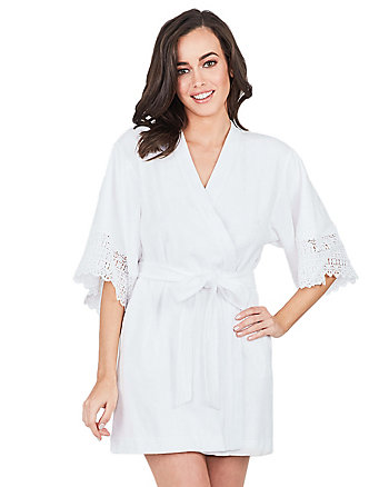 I DO CROCHET LACE TRIM ROBE