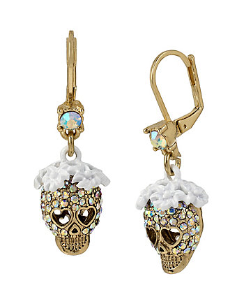 I DREAM OF BETSEY SKULL EARRINGS