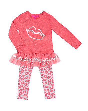 KISSES 4-6X TWO PC SWEATER SET
