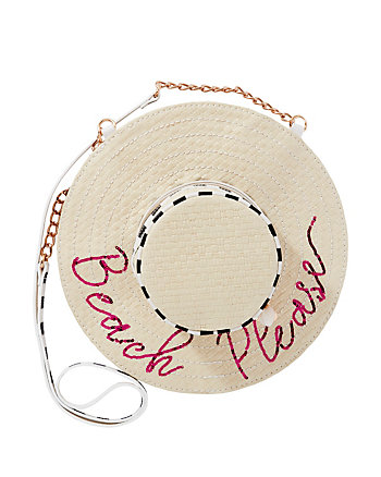 KITSCH BEACH PLEASE HAT CROSSBODY