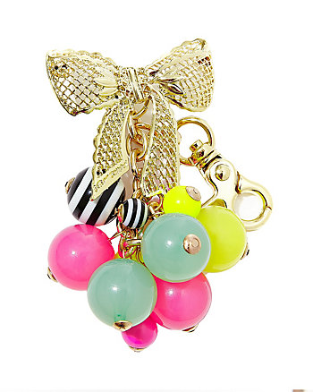 KITSCH BOW AND BALL DANGLE