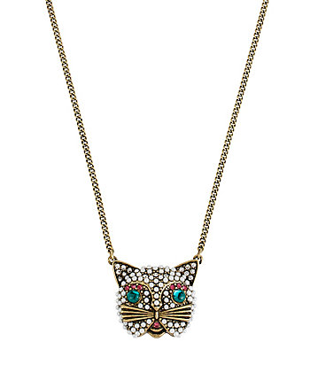KITTY FACE PENDANT NECKLACE