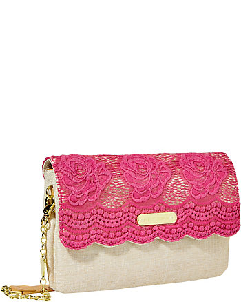 LACE OVER SHOULDER BAG