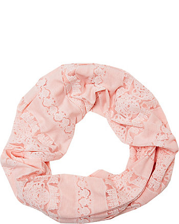 LACEY BURNOUT JERSEY LOOP SCARF