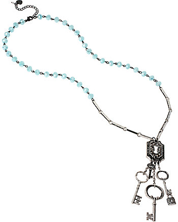 LADY LOCK BEADED LONG NECKLACE