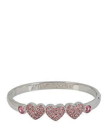 LARGE HEARTS HINGE BANGLE