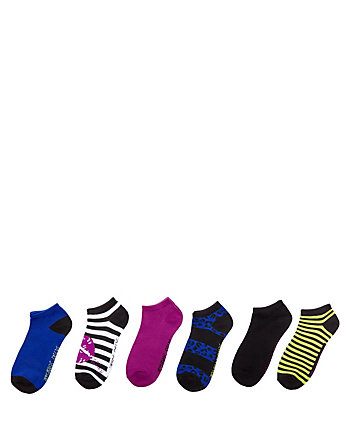 LIPS AND STRIPES LOW CUT SOCK SIX PACK