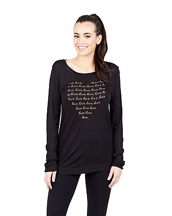 LOVE CURSIVE LONG SLEEVE TEE
