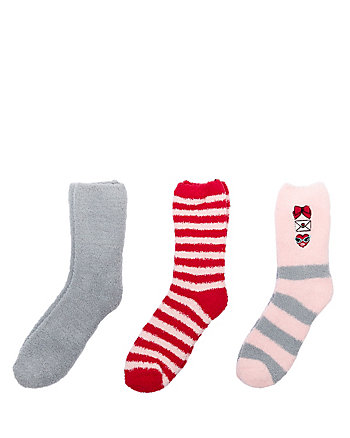 LOVE LETTER COZY SOCK THREE PACK