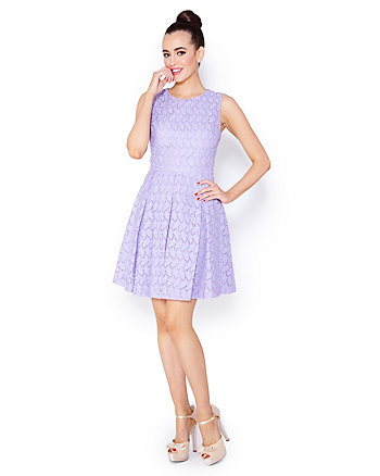 LOVELY LILAC CUTOUT BACK DRESS