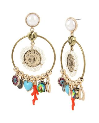 LUCKY CHARMS GYPSY HOOP EARRINGS MULTI