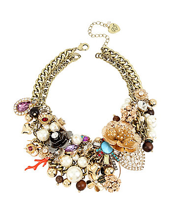 LUCKY CHARMS STATEMENT BIB NECKLACE