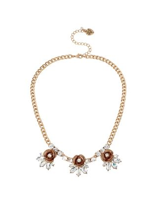 LUMINOUS BETSEY ROSE FRONTAL NECKLACE GOLD