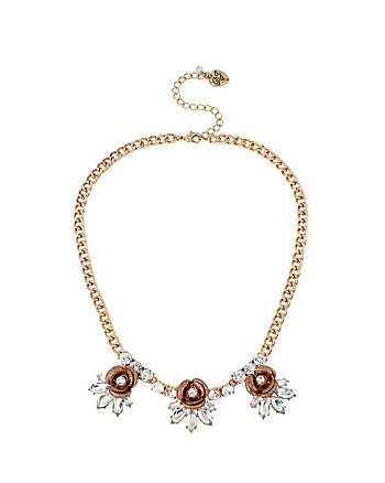LUMINOUS BETSEY ROSE FRONTAL NECKLACE