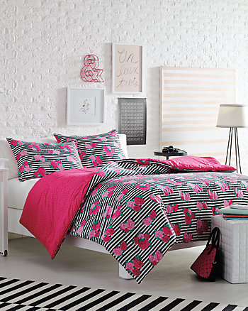 LUV BETSEY ROYAL ROSES TWIN COMFORTER SET