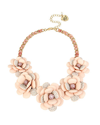 MARIE ANTOINETTE FLOWER FRONTAL NECKLACE