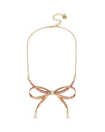 MARIE ANTOINETTE PINK BOW FRONTAL NECKLACE