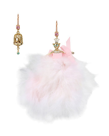 MARIE ANTOINETTE PINK MOUSE DOLL MISMATCH EARRING
