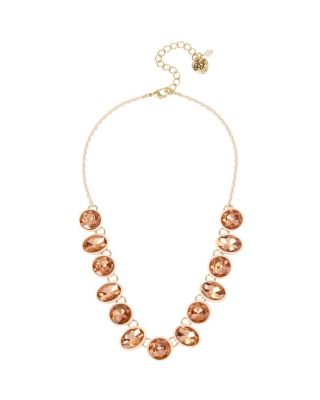 MARIE ANTOINETTE ROUND STUD FRONTAL NECKLACE PINK