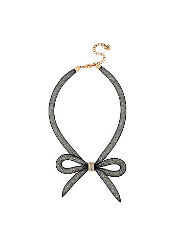 MEMOIRS OF BETSEY MESH BOW NECKLACE