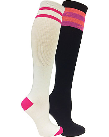 MISMATCHED STRIPES 2 PACK KNEE HIGH SOCKS