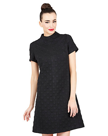 MOD COLLAR SHORT SLEEVE DRESS