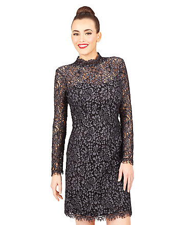MODE LACE OVERLAY DRESS