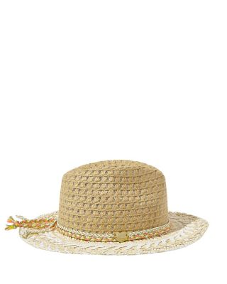 NATURAL STATIC WIDE FEDORA IVORY