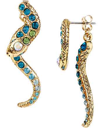 OCEAN DRIVE BLUE SNAKE EARRINGS
