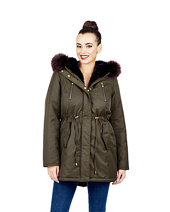 OH SO BETSEY FAUX FUR LINED PARKA