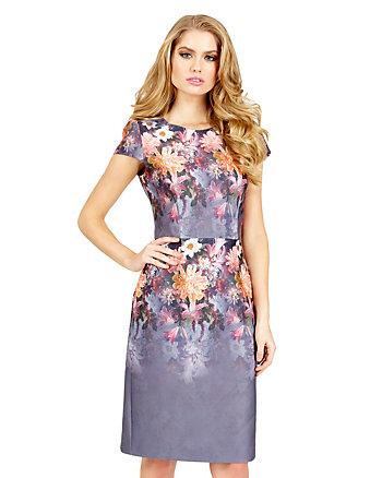 OMBRE FLORAL DRESS