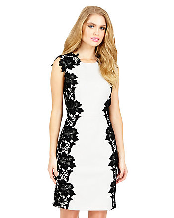 ON THE EDGE LACE TRIM DRESS